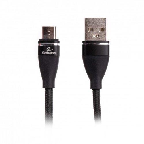 Фото USB Кабель Cablexpert USB 2.0 to micro USB 2.4A 1m Data/Charge (CCPB-M-USB-11BK) Black