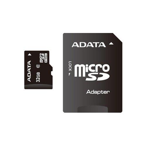 Фото Карта памяти A-Data microSDHC 32GB Class 10 UHS-1 (с адаптером) (AUSDH32GUICL10-RA1)