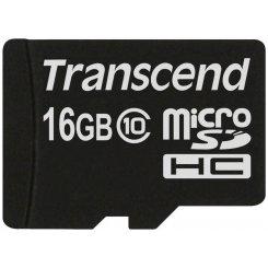 Фото Карта памяти Transcend microSDHC 16GB Class 10 (без адаптера) (TS16GUSDC10)