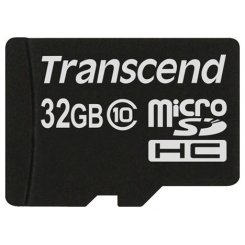 Фото Карта памяти Transcend microSDHC 32GB Class 10 (без адаптера) (TS32GUSDC10)