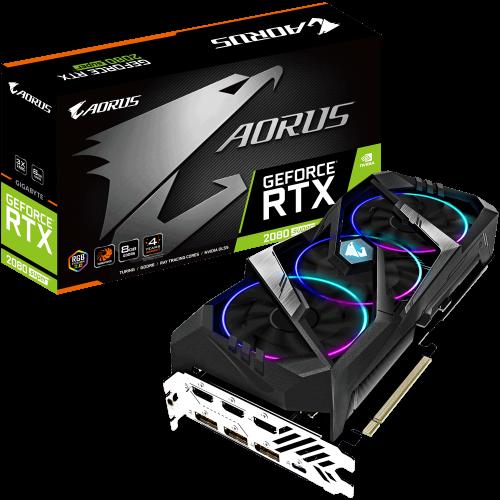 Фото Видеокарта Gigabyte GeForce RTX 2080 SUPER AORUS 8192MB (GV-N208SAORUS-8GC)