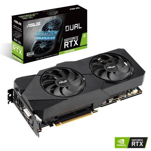 Фото Видеокарта Asus GeForce RTX 2060 SUPER Dual Evo 8192MB (DUAL-RTX2060S-8G-EVO)
