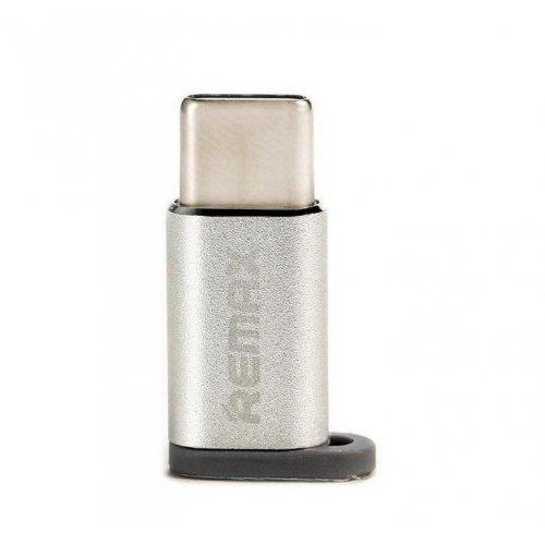 Фото Адаптер Remax Feliz MicroUSB to Type-C (RA-USB1-SILVER) Silver