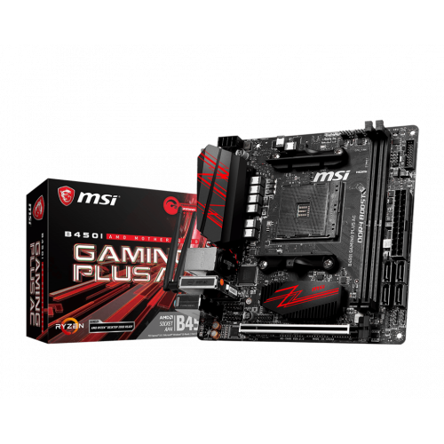 Фото Материнская плата MSI B450I GAMING PLUS AC (sAM4, AMD B450) + Ryzen 3000 Gen Ready