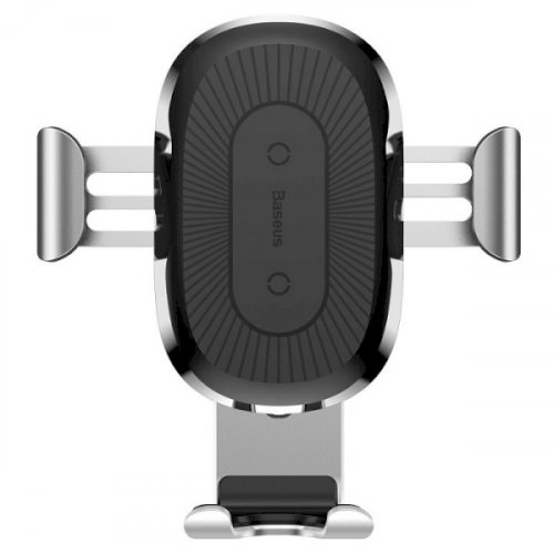 Фото Автодержатель Baseus Wireless Charger Gravity Car Mount (WXYL-0S) Silver