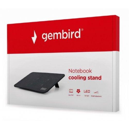 Фото Подставка для ноутбука Gembird NBS-4F15-01 Black