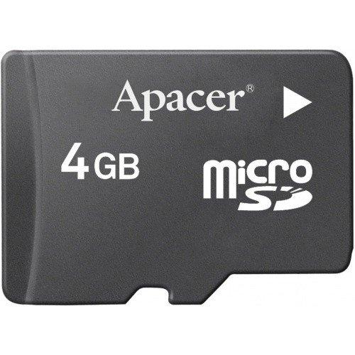 Фото Карта памяти Apacer microSDHC 4GB Class 4 (без адаптера) (AP4GMCSH4-RA)
