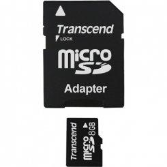 Фото Карта памяти Transcend microSD 8GB Class 2 (с адаптером)