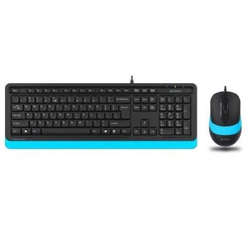 Купить Клавиатура и мышь, A4Tech Fstyler F1010 Sleek Multimedia Comfort Black/Blue