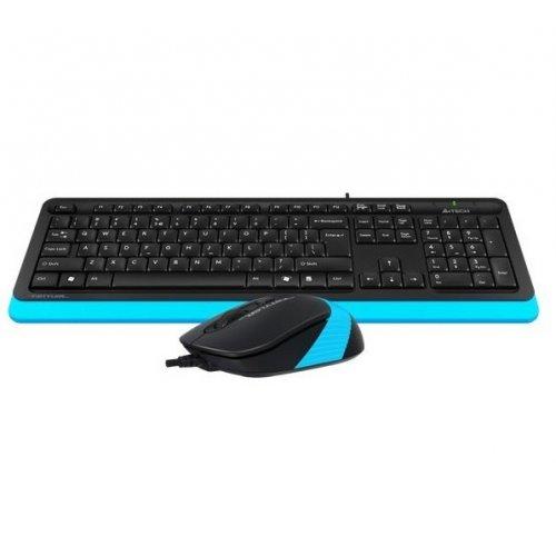Фото Комплект A4Tech Fstyler F1010 Sleek Multimedia Comfort Black/Blue