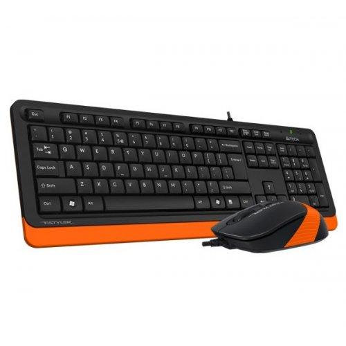 Фото Комплект A4Tech Fstyler F1010 Sleek Multimedia Comfort Black/Orange