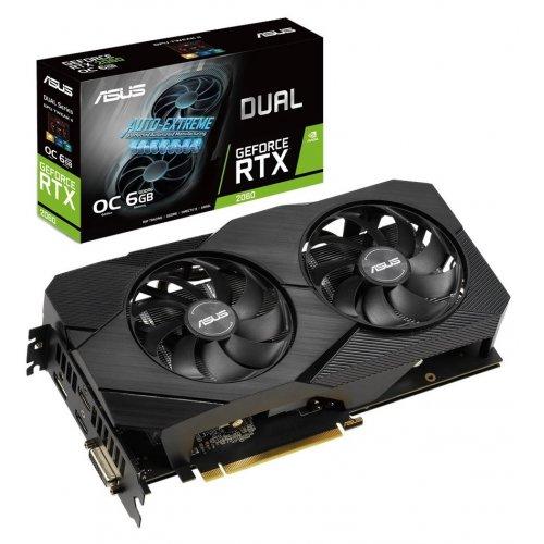 Фото Видеокарта Asus GeForce RTX 2060 Dual Evo OC 6144MB (DUAL-RTX2060-O6G-EVO)