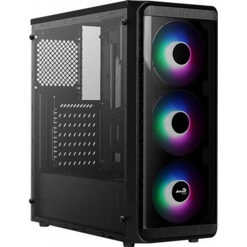 Фото Корпус Aerocool PGS SI-5200 Frost RGB Tempered Glass без БП Black