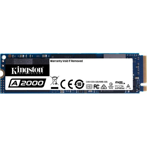 Фото SSD-диск Kingston A2000 3D NAND 250GB M.2 (2280 PCI-E) NVMe x4 (SA2000M8/250G)