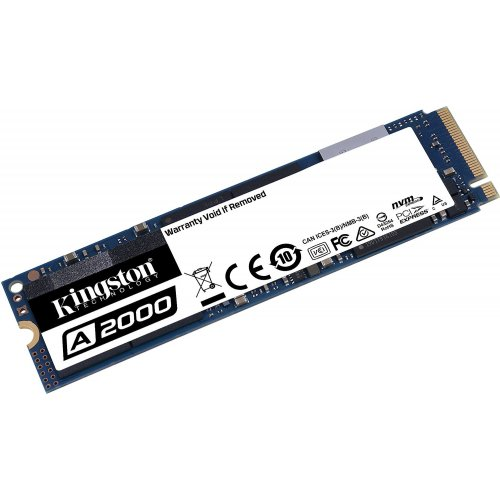 Фото Kingston A2000 3D NAND 250GB M.2 (2280 PCI-E) NVMe x4 (SA2000M8/250G)