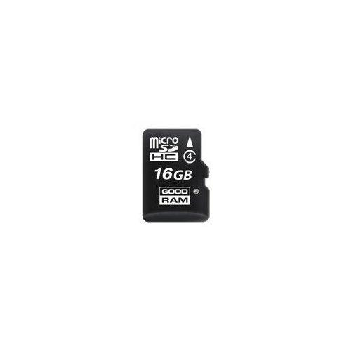 Фото Карта памяти GoodRAM microSDHC 16GB Class 4 (с адаптером) (SDU16GHCGRNR/SDU16GHCAGRR9/SDU16)