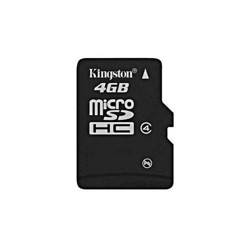 Фото Карта памяти Kingston microSDHC 4GB Class 4 (без адаптера) (SDC4/4GBSP)