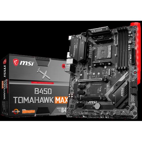 Фото Материнская плата MSI B450 TOMAHAWK MAX (sAM4, AMD B450)
