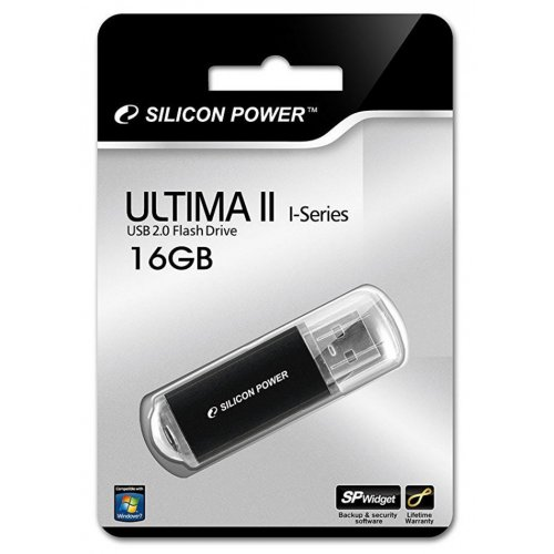 Фото Накопитель Silicon Power Ultima II I-Series 16GB USB 2.0 Black (SP016GBUF2M01V1K)