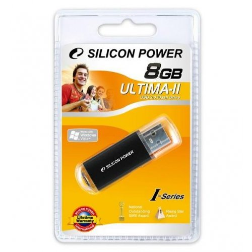 Фото Накопитель Silicon Power Ultima II I-series 8GB Black (SP008GBUF2M01V1K)