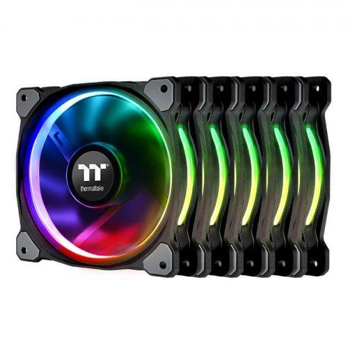 Фото Кулер для корпуса Thermaltake Riing Plus 14 RGB Radiator Fan TT Premium Edition (5-Fan Pack) (CL-F057-PL14SW-A)