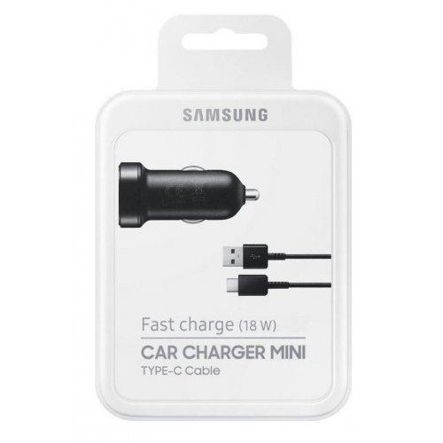 Фото Автомобильное зарядное устройство Samsung Fast Charge Mini 2A 1 USB & Cable USB Type-C (EP-LN930CBEGRU) Black