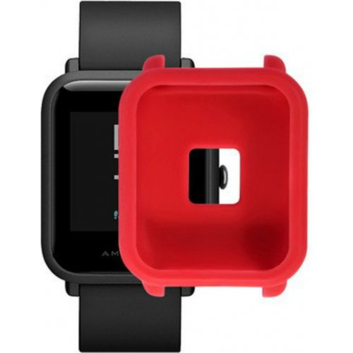 Фото Силиконовый бампер Xiaomi Smart Band for Amazfit bip Red