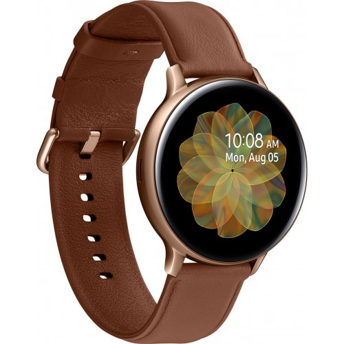 Фото Умные часы Samsung Galaxy Watch Active 2 44 mm Stainless steel (SM-R820NSDASEK) Gold