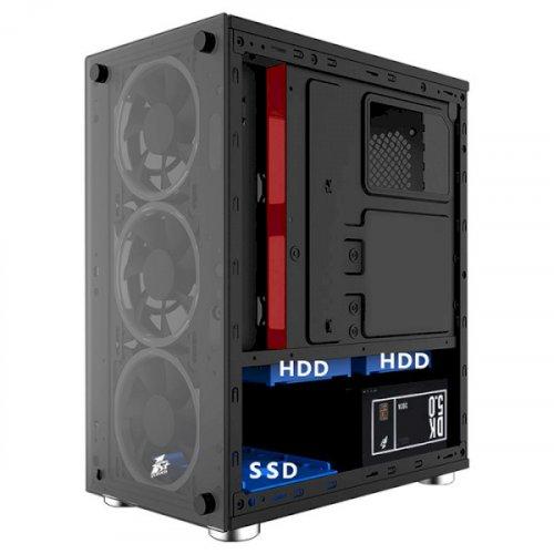 Фото Корпус 1stPlayer X2-R1 Color LED без БП Black