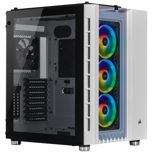 Фото Корпус Corsair Crystal Series 680X RGB Tempered Glass без БП (CC-9011169-WW) White