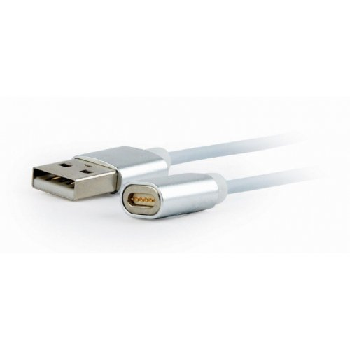 Фото USB Кабель Cablexpert 3-in-1 USB 2.0 to USB Type-C/micro USB/Lightning 1m Magnetic Charge/Sync (CC-USB2-AMLM31-1M) Silver