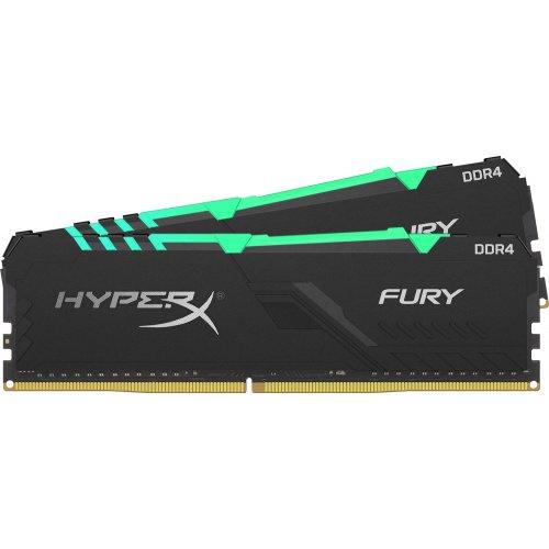 Фото HyperX DDR4 16GB (2x8GB) 3466Mhz Fury RGB (HX434C16FB3AK2/16)