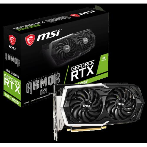 Фото MSI GeForce RTX 2060 SUPER ARMOR OC 8192MB (RTX 2060 SUPER ARMOR OC)
