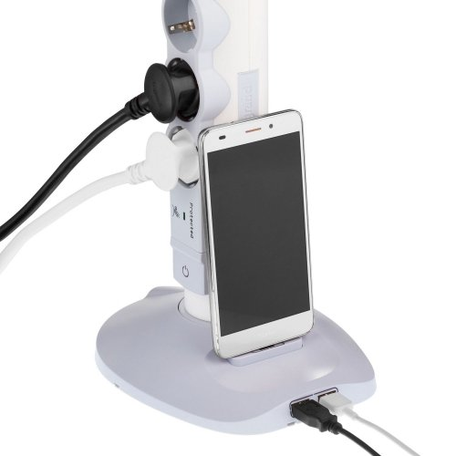 Фото Сетевой фильтр Legrand 2 м 4 розетки + 2 USB + 1 microUSB (694614) White