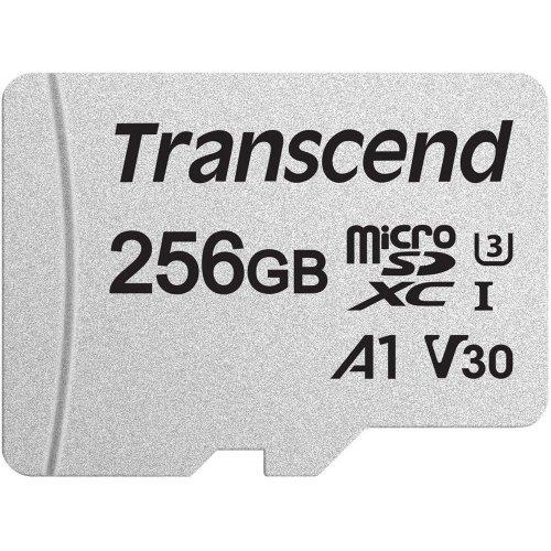 Фото Карта памяти Transcend microSDXC 300S 256GB Class 10 UHS-I (с адаптером) (TS256GUSD300S-A)