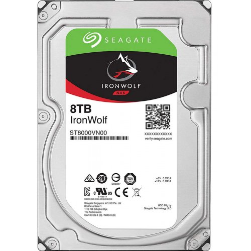 "Фото Жесткий диск Seagate IronWolf 8TB 256MB 7200RPM 3.5"" (ST8000VN004)"