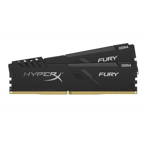 Фото HyperX DDR4 16GB (2x8GB) 3200Mhz Fury Black (HX432C16FB3K2/16)