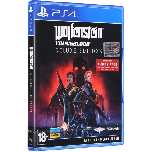 Фото Игра для PS4 Wolfenstein: Youngblood. Deluxe Edition (PS4) Blu-ray (6425540)