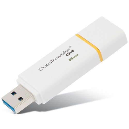 Фото Накопитель Kingston DataTraveler G4 USB 3.0 8GB Yellow (DTIG4/8GB)