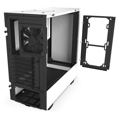 Фото Корпус NZXT H510 Tempered Glass (CA-H510B-W1) Matte Black/White