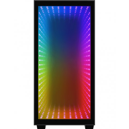 Фото Корпус GAMEMAX H608 Mini Abyss Rainbow LED Tempered Glass без БП Black