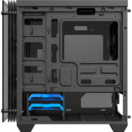 Фото Корпус GAMEMAX H609 Mini Stratos Rainbow LED Tempered Glass без БП Black