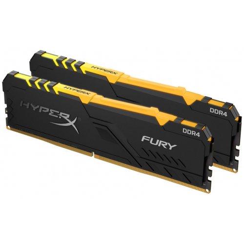 Фото ОЗУ HyperX DDR4 16GB (2x8GB) 2400Mhz Fury RGB (HX424C15FB3AK2/16)