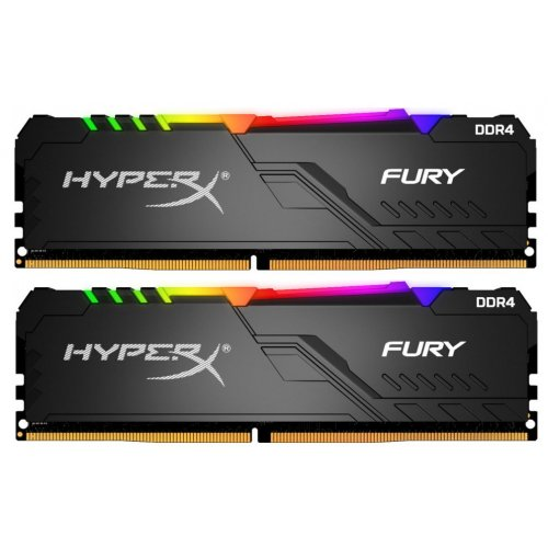 Купить Модули памяти, HyperX DDR4 32GB (2x16GB) 2400Mhz Fury RGB (HX424C15FB3AK2/32), Kingston