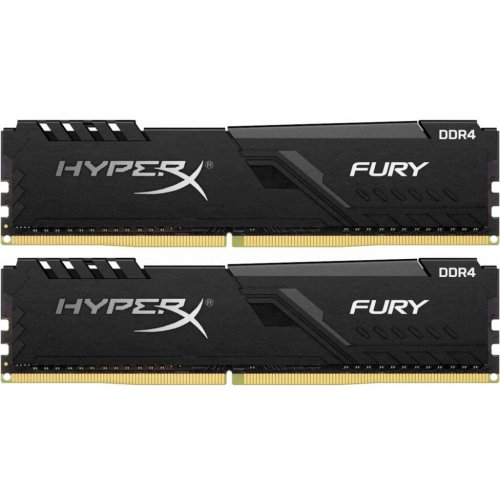 Фото ОЗУ Kingston DDR4 16GB (2x8GB) 3466Mhz HyperX FURY Black (HX434C16FB3K2/16)
