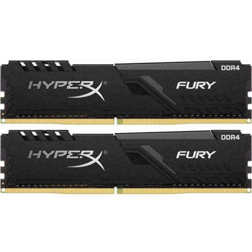 Фото HyperX DDR4 16GB (2x8GB) 2400Mhz FURY Black (HX424C15FB3K2/16)