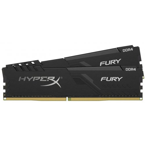 Фото HyperX DDR4 32GB (2x16GB) 3200Mhz FURY Black (HX432C16FB3K2/32)