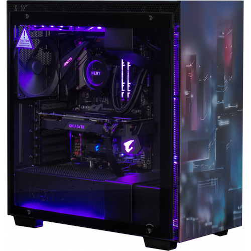 Фото Корпус NZXT H700i (CA-H700W-BB) Matte Black CyberPunk Edition by EVOLVE