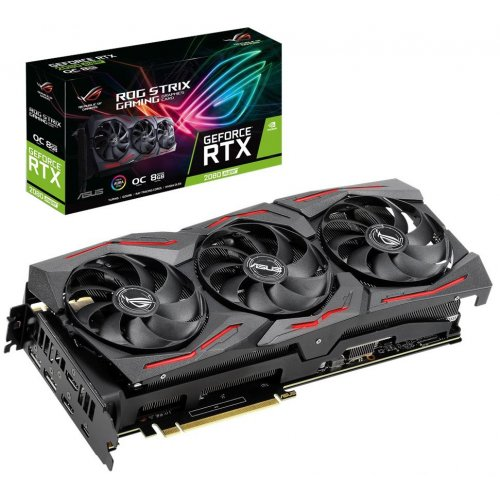Купить Видеокарты, Asus GeForce RTX 2080 SUPER STRIX OC 8192MB (ROG-STRIX-RTX2080S-O8G-GAMING)