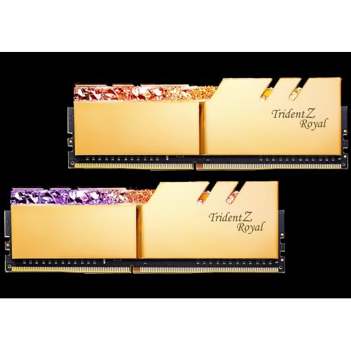 Фото ОЗУ G.Skill DDR4 16GB (2x8GB) 3200Mhz Trident Z Royal Gold (F4-3200C16D-16GTRG)